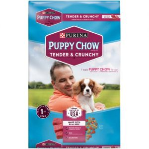 Purina Puppy Chow Tender & Crunchy with Real Beef & Rice Dry Dog Food – 18lbs
