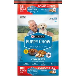Purina Puppy Chow High Protein Dry Puppy Food, Complete with Real Chicken, 18 Lb. Bag