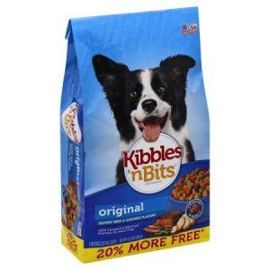 Kibbles 'n Bits Original Savory Beef & Chicken Flavors Dry Dog Food, 4.2-lb Bag