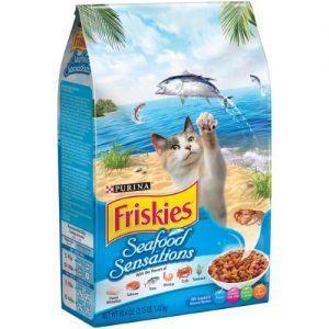 Friskies Ocean Fish Dry Cat Food Seafood Sensations – 3.15 Lb