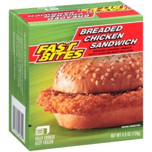 Fast Bites Breaded Chicken Sandwich 4.9 Oz. Box