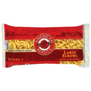 American Beauty Large Elbows Macaroni Pasta, 16-Ounce Bag