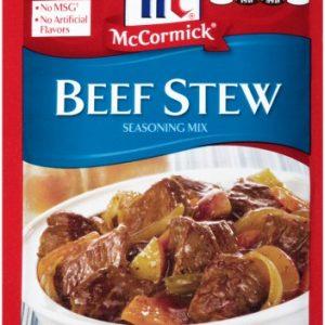 (4 Pack) McCormick Beef Stew Seasoning Mix, 1.5 Oz