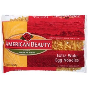 (12 Packs) American Beauty Extra Wide Egg Noodles, 12 Oz. Package – $2.62/lb