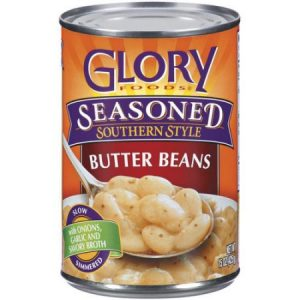 (4 Pack) Glory Foods Seasoned Southern Style Butter Beans, 14.5 Oz
