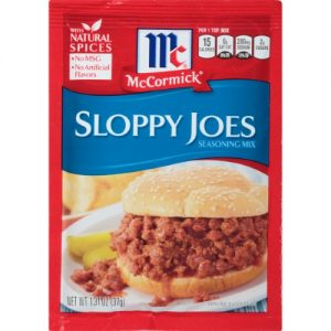 (4 Pack) McCormick Sloppy Joes Seasoning Mix, 1.31 Oz