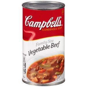 (3 Pack) Campbell's Condensed Family Size Vegetable Beef Soup, 23 Oz. Can