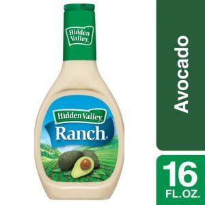 Hidden Valley Avocado Ranch Salad Dressing & Topping – Gluten Free – 16oz Bottle