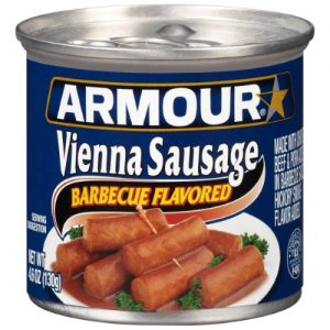 Armour Barbecue Flavored Vienna Sausage 4.6 Oz Can