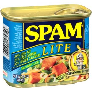 12 Cans- Spam Lite Luncheon Meat 12 Oz