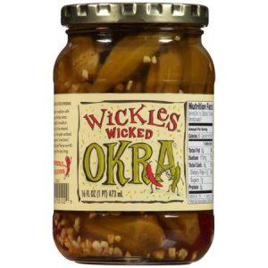 (2 Pack) Wickles Wicked Okra Pickles 16 Oz