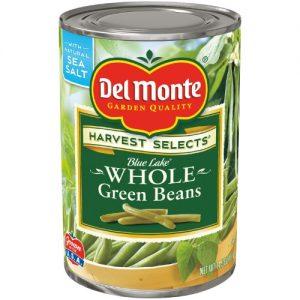 (4 Pack) Del Monte Whole Green Beans, 14.5 Oz