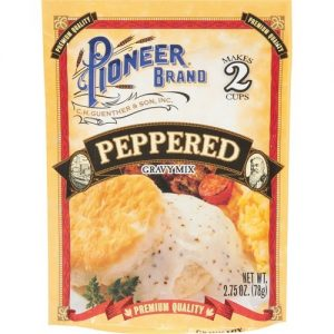 (4 Pack) Pioneer Brand Gravy Mix, Peppered, 2.75 Oz