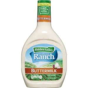 Hidden Valley Buttermilk Ranch Salad Dressing & Topping – Gluten Free – 24oz Bottle