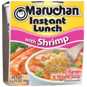 Maruchan Instant Lunch Ramen Noodle Soup with Shrimp, 2.25 Oz