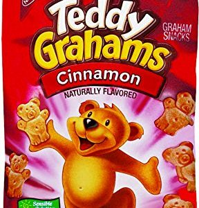 (3 Pack) Nabisco Honey Maid Cinnamon Teddy Grahams Snacks, 3 Oz