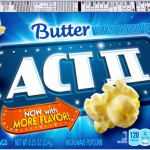 (2 Pack) ACT II Butter Popcorn, 2.75 Ounce (3 Count)