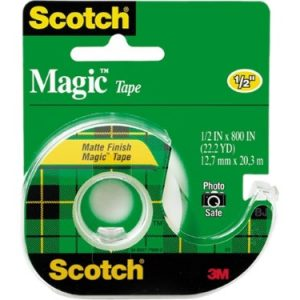 3m 119 Magic Tape with Dispenser, 1/2″ X 800″