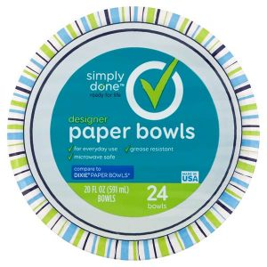 Simply Done Designer Paper Bowls