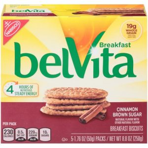 BelVita Cinnamon Brown Sugar Breakfast Biscuits – 5 Packs