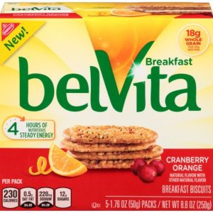 BelVita Cranberry Orange Breakfast Biscuits – 5 Packs