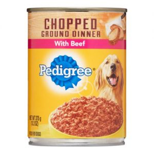 Pedigree Chopped Ground Dinner Wet Dog Food with Beef – 13.2oz
