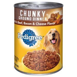 Pedigree Traditional Dog Food Dinner with Chunky Beef