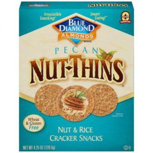Blue Diamond Pecan Nut Thins Crackers 4.25 Oz Box