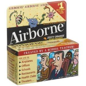 Airborne Vitamin C Effervescent Tablets, Zesty Orange – 10 Ct