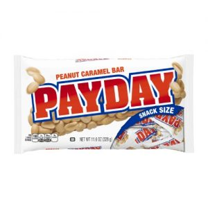 (2 Pack) Payday, Peanut Caramel Candy Bars Snack Size, 11.6 Oz