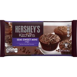 (2 Pack) HERSHEY'S Semi-Sweet Chocolate Mini Chips, 12 Oz