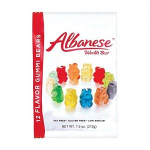 ALBANESE 12 Sour Flavors Gummy Bears – 7 Oz Pack of 12