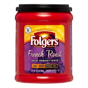 Folgers French Roast Coffee, 10.3 Oz. Canister,Size: Med