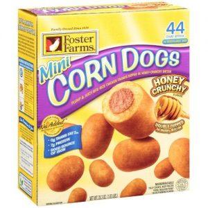 Foster Farms Honey Crunchy Flavor Mini Corn Dogs, 40 Count, 29.3 Oz
