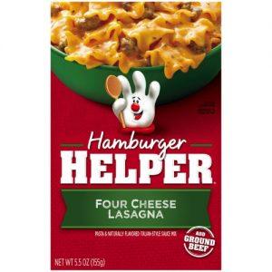 Hamburger Helper Four Cheese Lasagna 5.5 Oz