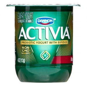 Activia Cherry Lowfat Yogurt, 4 Ct, 5.3 Oz