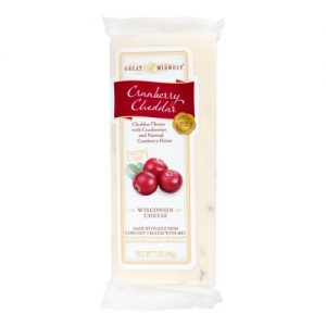 Great Midwest Cranberry Cheddar Wisconsin Cheese – 7oz