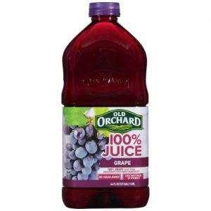(8 Pack) Old Orchard 100% Juice, Grape, 64 Fl Oz