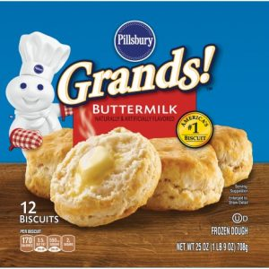 Pillsbury Grands! Buttermilk Biscuits 12 Count, 25 Oz