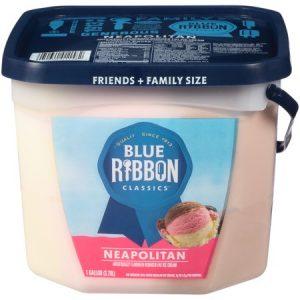 Blue Ribbon Classics Neapolitan Reduced Fat Ice Cream Pail , 128 Fl Oz