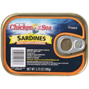 (3 Pack) Chicken of the Sea Sardines in Oil, Lightly Smoked, 3.75 Oz