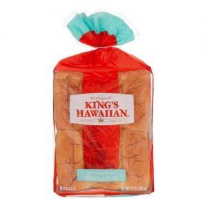 King's Hawaiian Mini Sub Rolls, Original Hawaiian Sweet Mini Sub Buns, 6 Count Bag