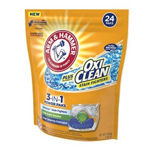 ARM & HAMMER Plus OxiClean 5-in-1 Power Paks, 24 Count (Packaging May Vary)