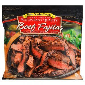 John Soules Foods Fully Cooked Frozen Beef Fajitas – 12oz