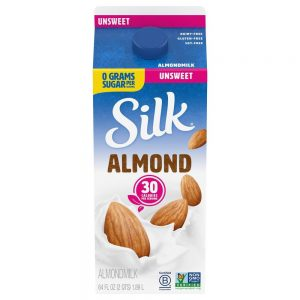 Silk Pure Almond Unsweetened Original Almond Milk – 0.5gal