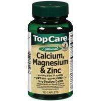 Top Care Calcium, Magnesium & Zinc Dietary Supplement (Case of 3)