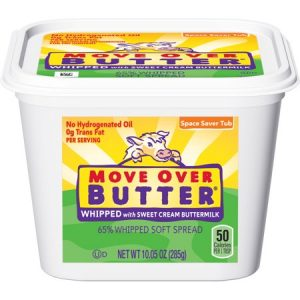 MOVE OVER BUTTER Whipped Vegetable Oil Spread with Sweet Cream Buttermilk 10.05-oz. Tub