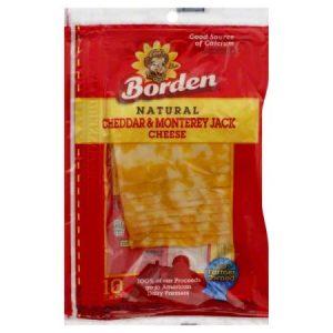 BORDEN Cheddar & Monterey Jack Sliced Cheese