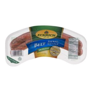 Eckrich Beef Skinless Smoked Sausage, 10 Oz