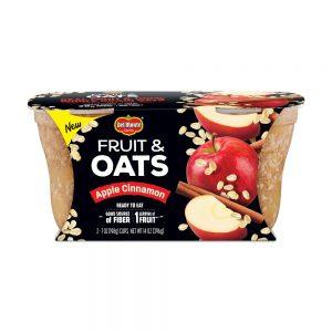 (4 Cups) Del Monte Apple Cinnamon Fruit & Oats, 7 Oz Cups